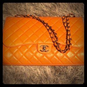 Chanel 3Way Jumbo Lambskin Maxi Flap W/Drawstring